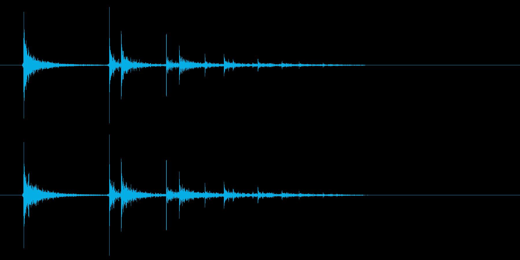 空き缶が転がる音の再生済みの波形