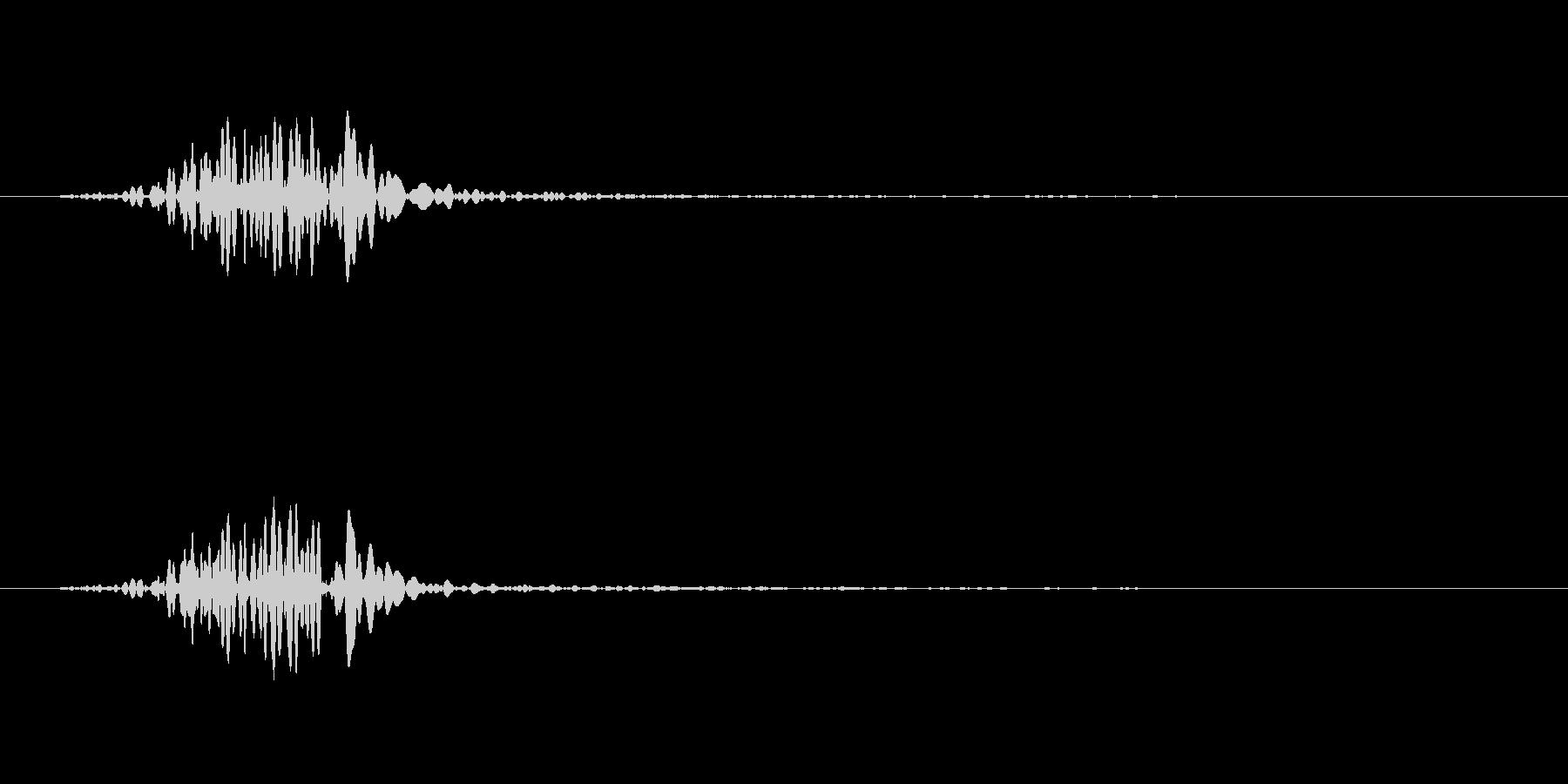 ロウソクの炎のSEの未再生の波形