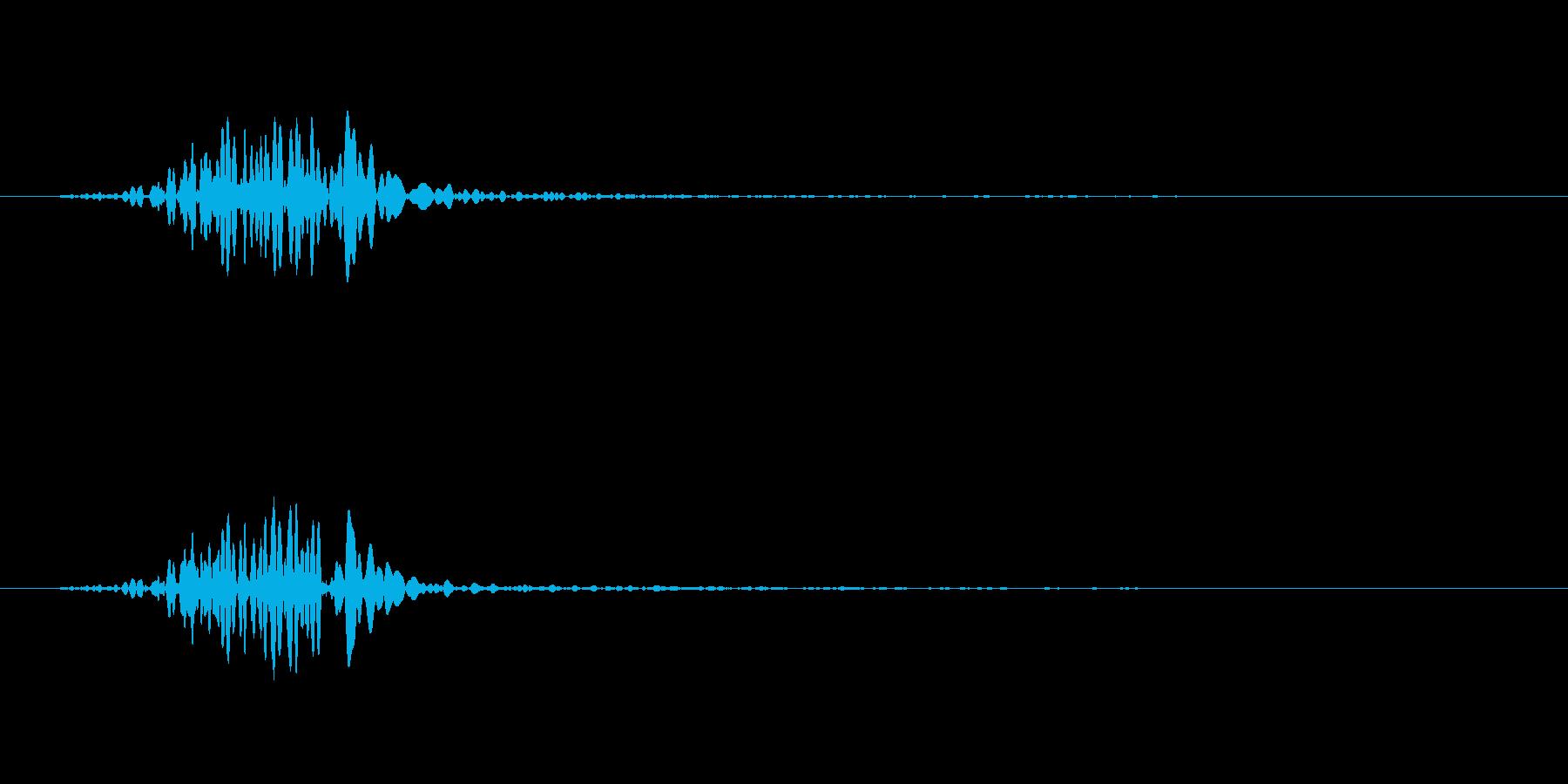 ロウソクの炎のSEの再生済みの波形