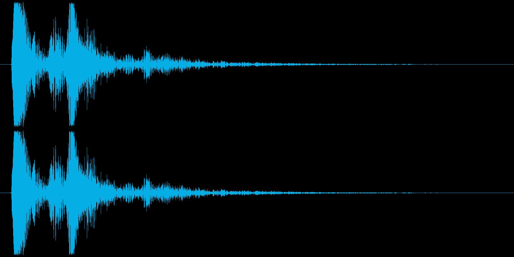 アイテムやキャラが出てくる時の様な効果音の再生済みの波形