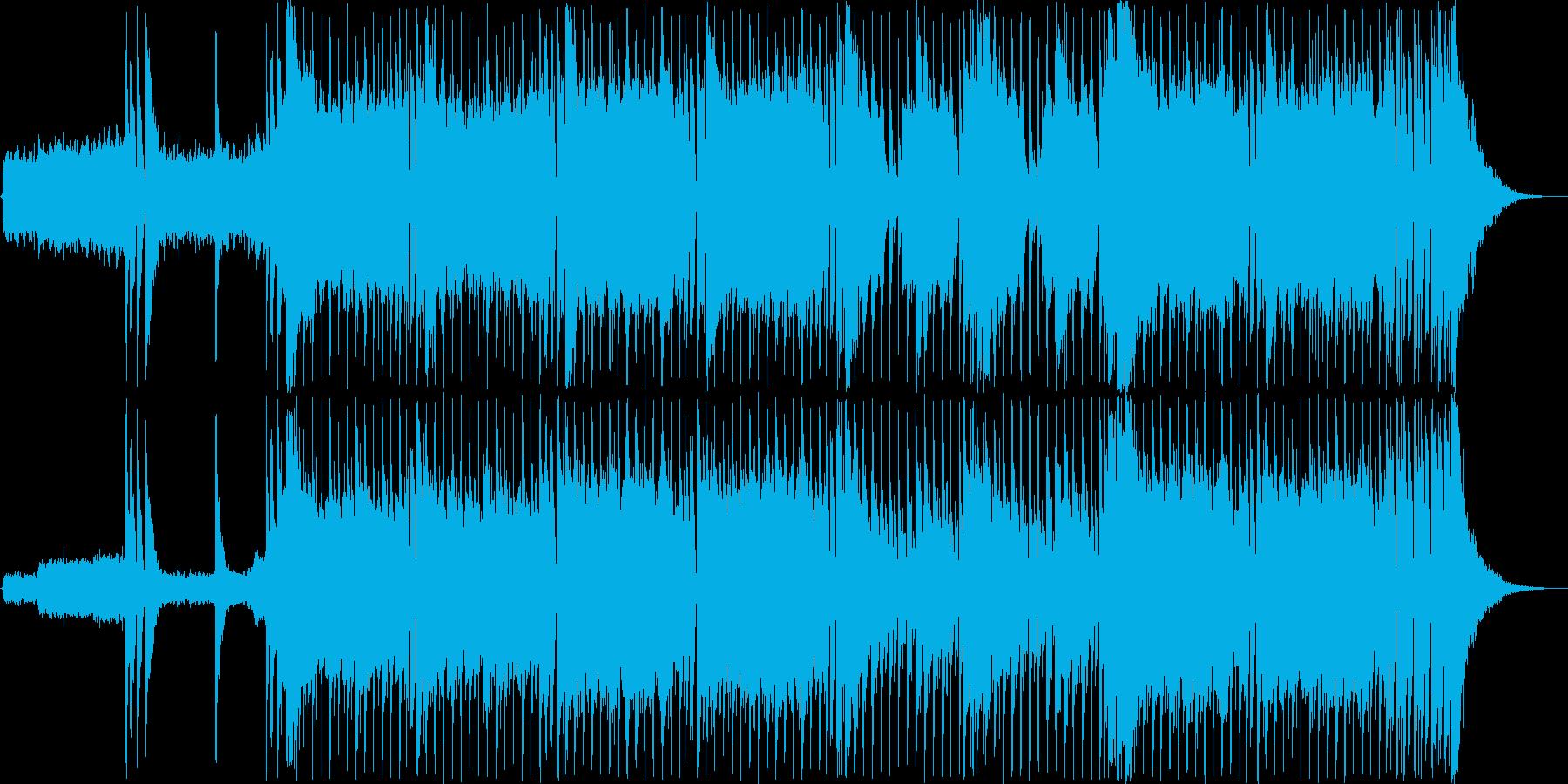 バトルシーンにぴったりのかっこいいロックの再生済みの波形