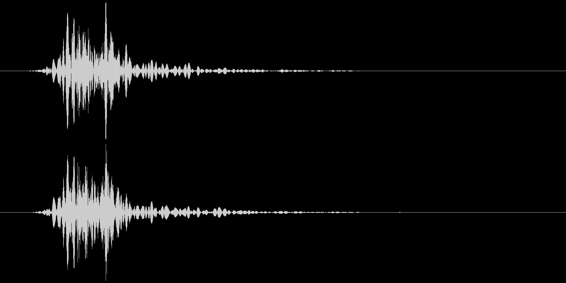 コンセント 抜く、挿す ズッ… の未再生の波形
