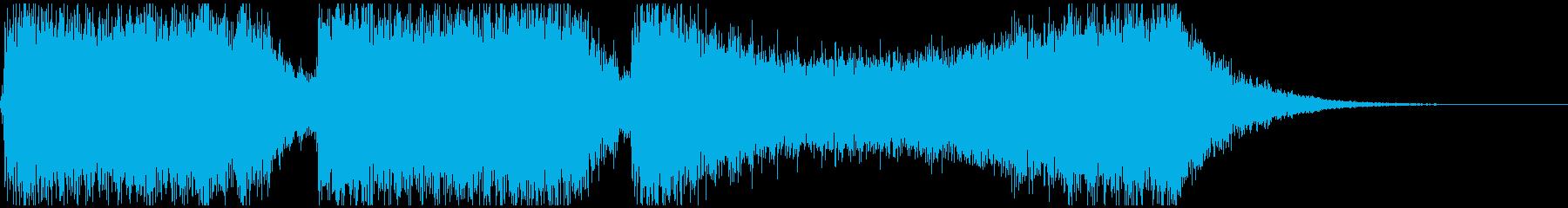 巨大怪獣/戦艦登場シーンの超重厚な曲1の再生済みの波形