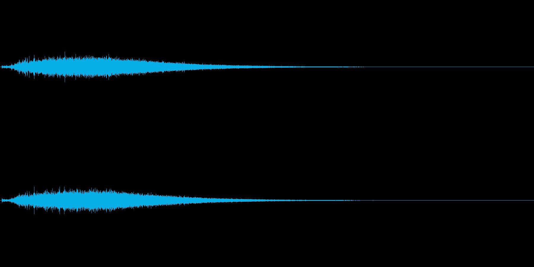 アイスアーマーや氷雪系の魔法のイメージの再生済みの波形
