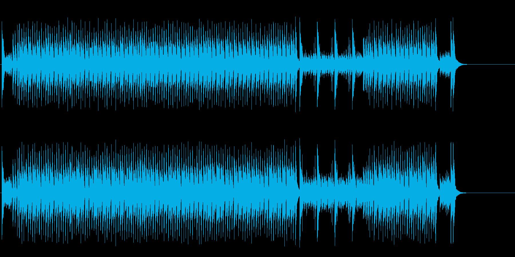 陽気なカントリー風ポップの再生済みの波形