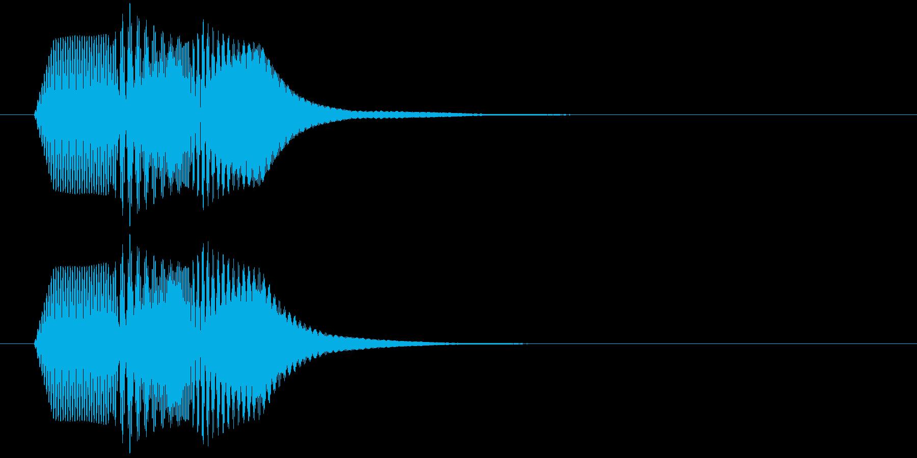 短いボタン音です。の再生済みの波形