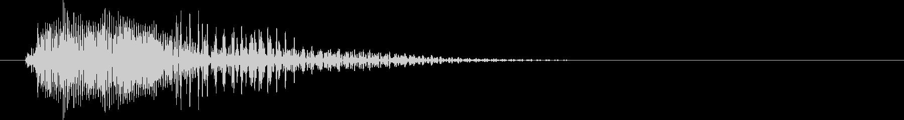 ピコン(カーソル移動音・決定音)の未再生の波形