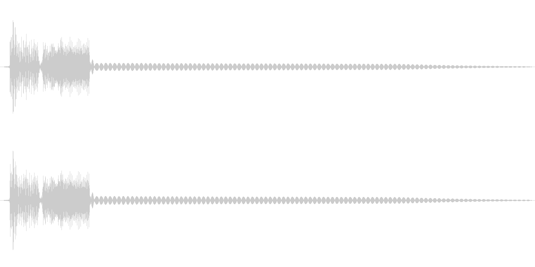 8bit効果音「ディロリンッ」の未再生の波形