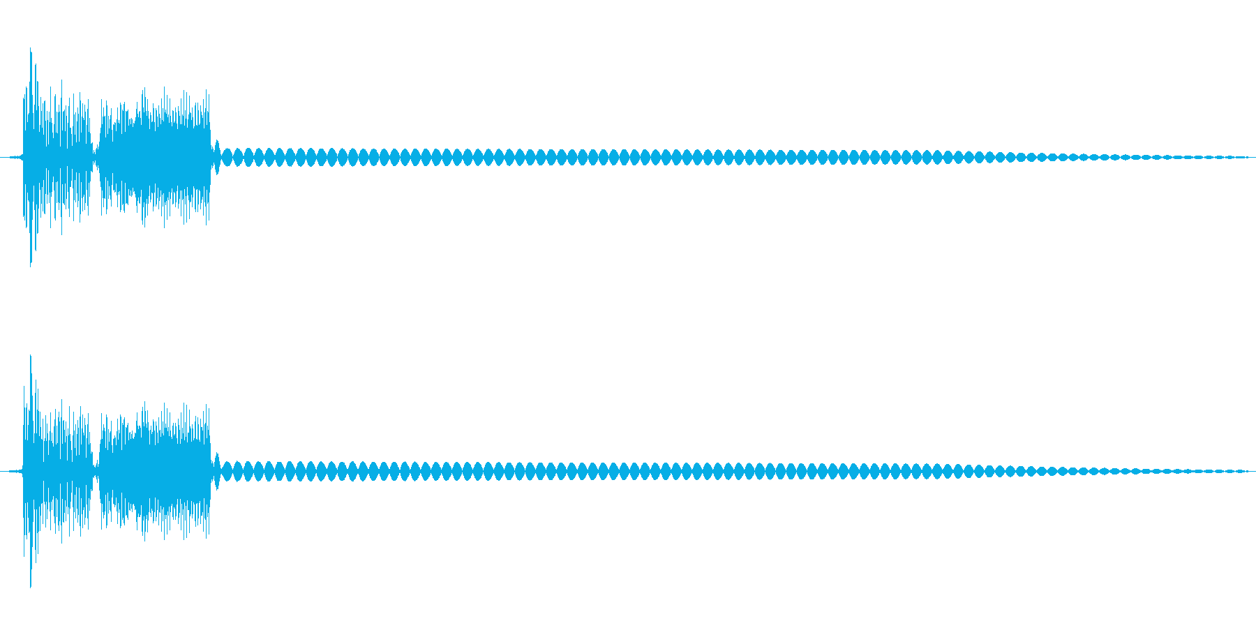 8bit効果音「ディロリンッ」の再生済みの波形