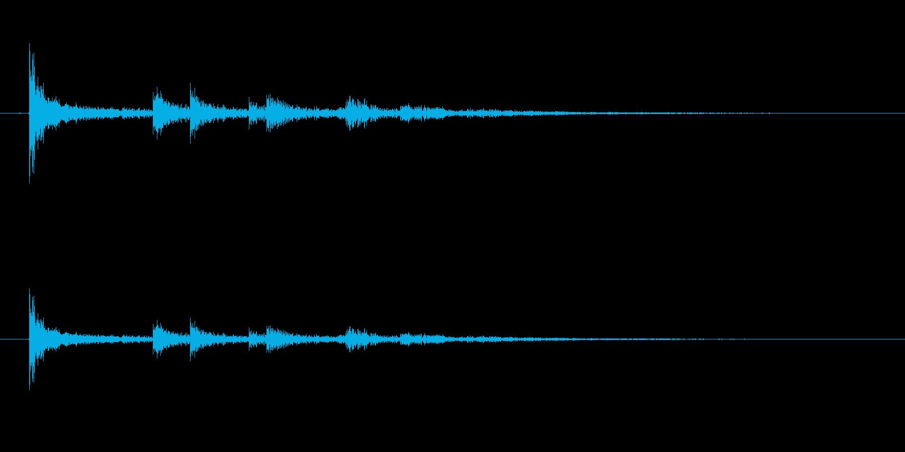 カランカラン(空き缶の転がる音)の再生済みの波形