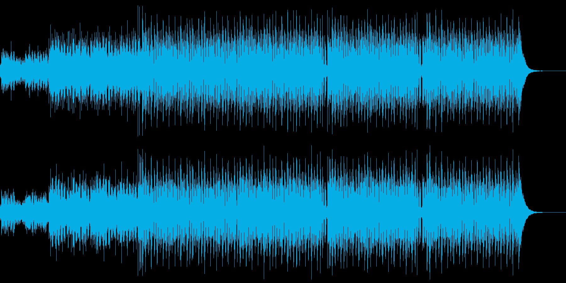 ずっしりビートの効いたEDMの再生済みの波形