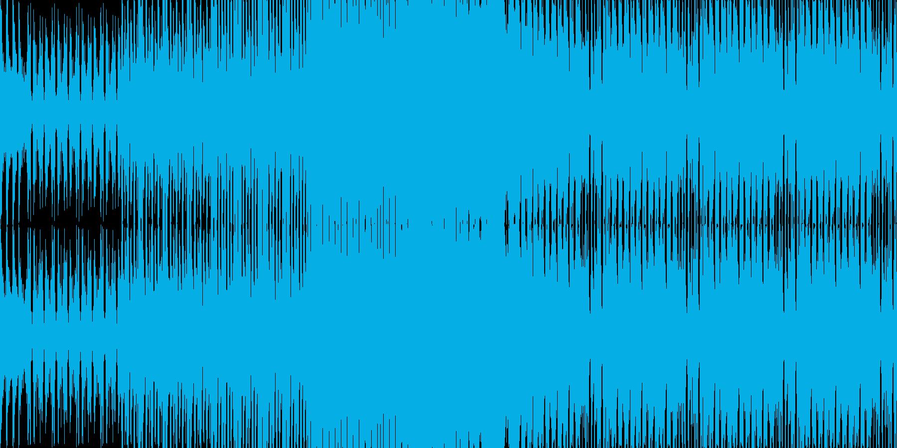 【可愛くてポップなダンスミュージック】の再生済みの波形