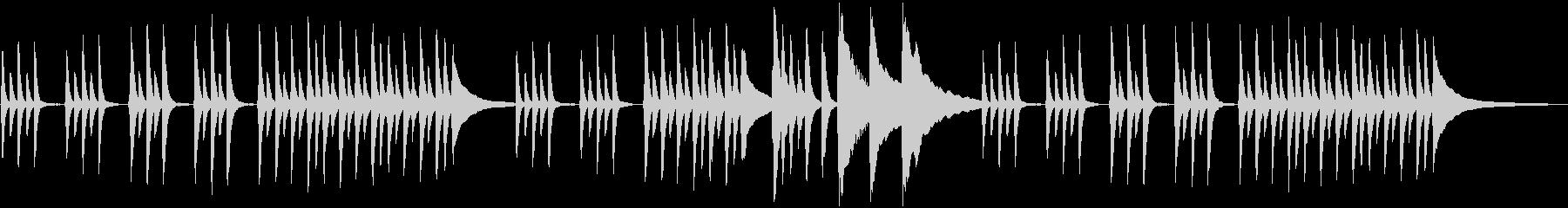 可愛い系のピアノのシンプルなBGMの未再生の波形