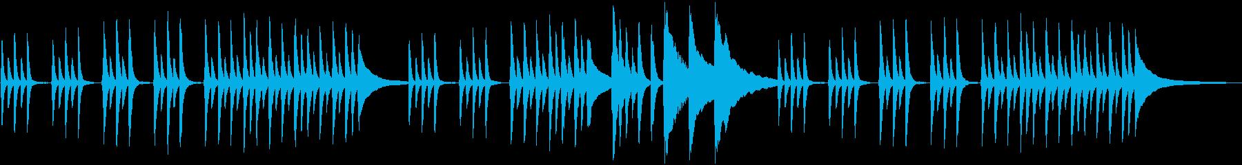 可愛い系のピアノのシンプルなBGMの再生済みの波形