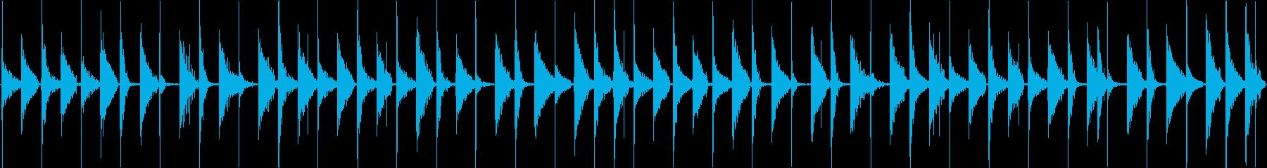 かわいらしい電子音で構成されたループ楽…の再生済みの波形