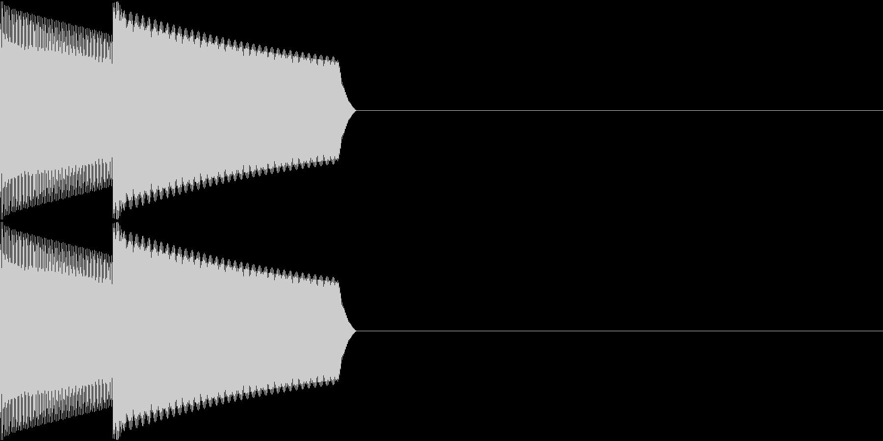 GB 懐かしのゲーム起動音 2の未再生の波形
