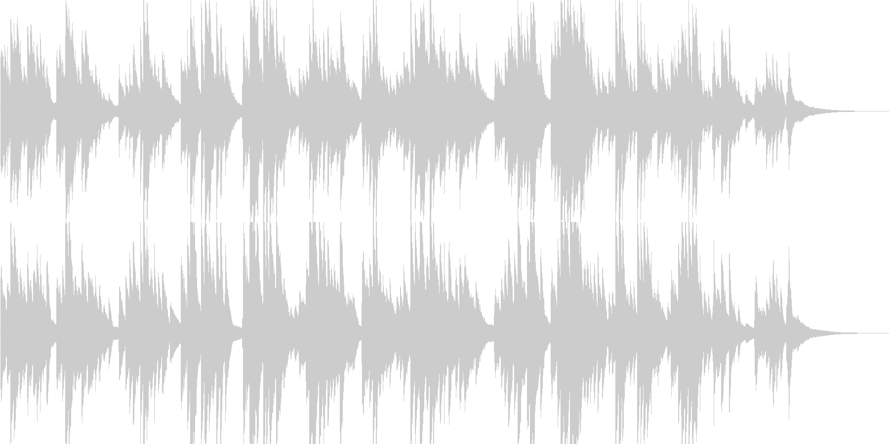 愛しく可愛さのあるピアノバラードの未再生の波形