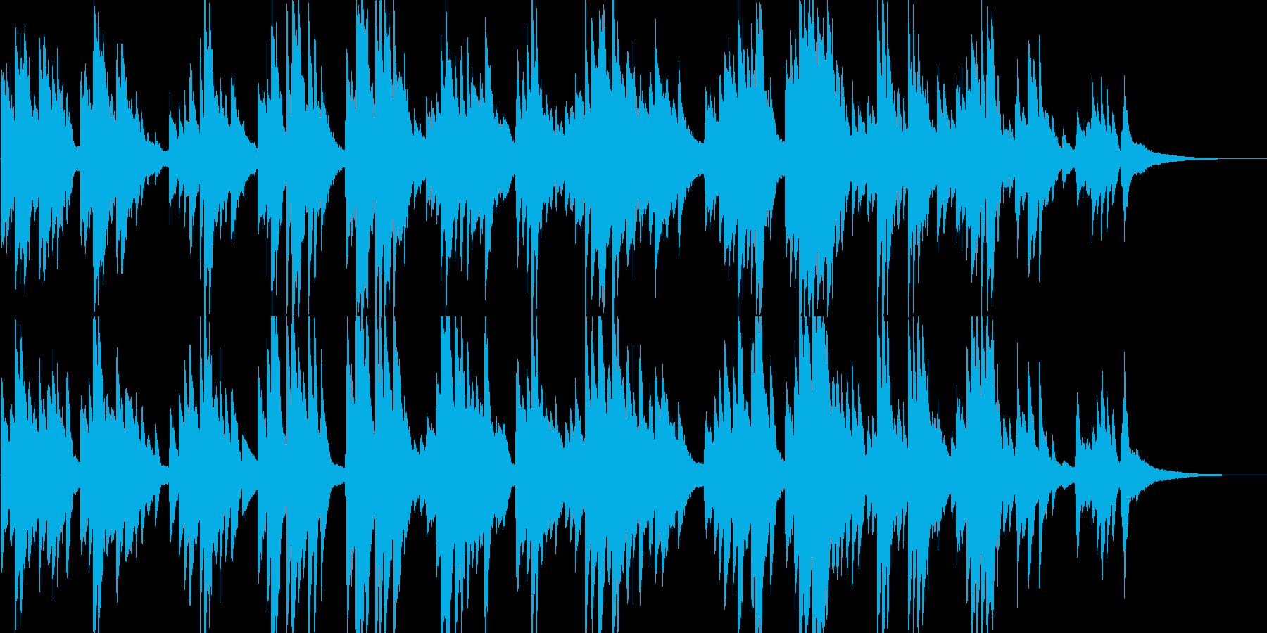 愛しく可愛さのあるピアノバラードの再生済みの波形