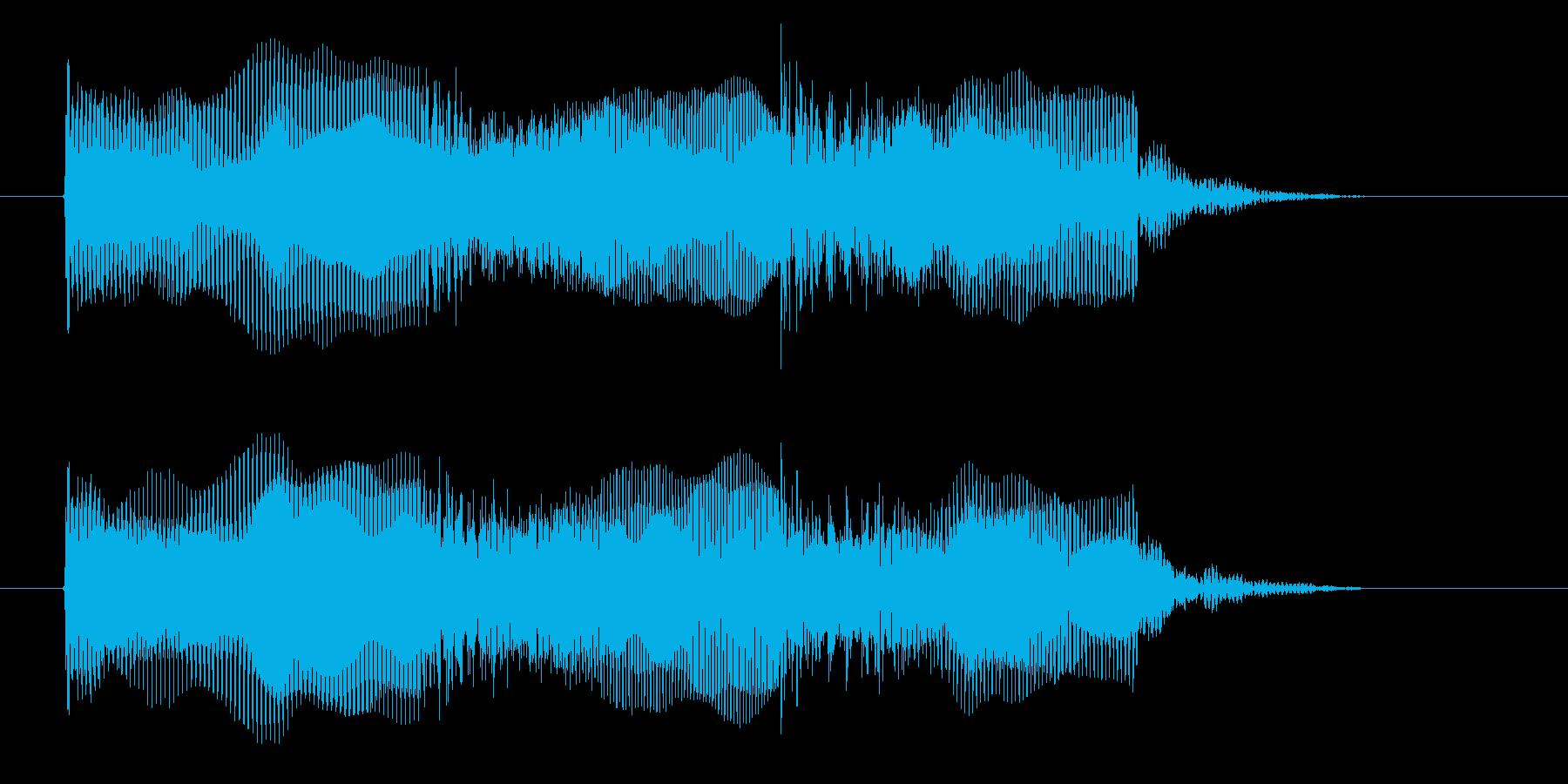宇宙感のあるシンセ音(撃つ、ゲーム)の再生済みの波形