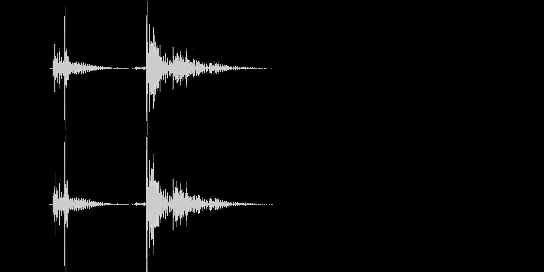 ショッキシン(メカ音)の未再生の波形