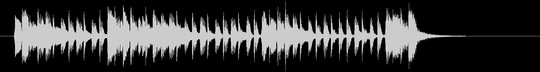 アコギが特徴なポップスバンドのジングルの未再生の波形