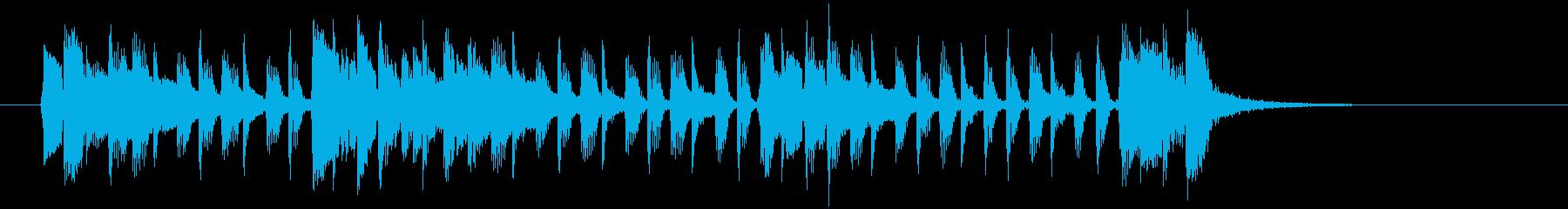 アコギが特徴なポップスバンドのジングルの再生済みの波形
