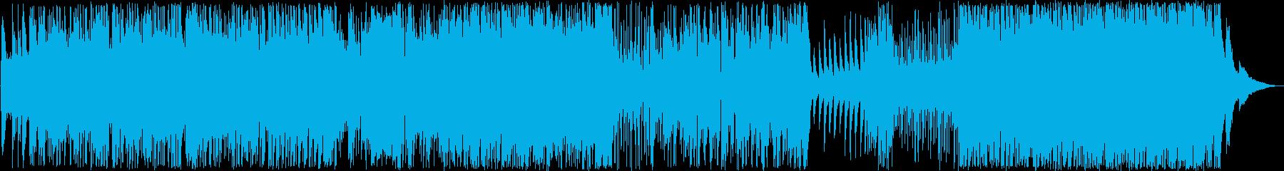 ポップなラテンジャズピアノ生演奏の再生済みの波形