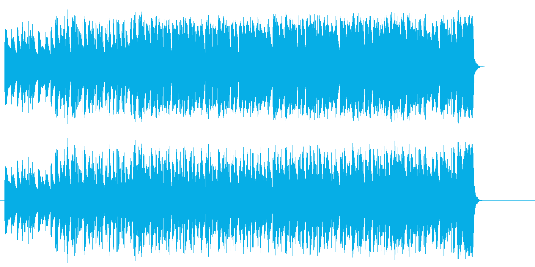 葛藤が絶えない優柔不断なポップの再生済みの波形