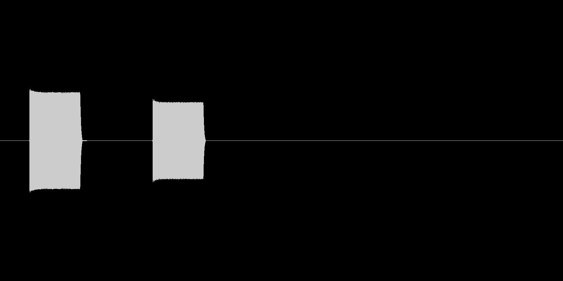 カッコー(信号、横断歩道、交通安全)の未再生の波形