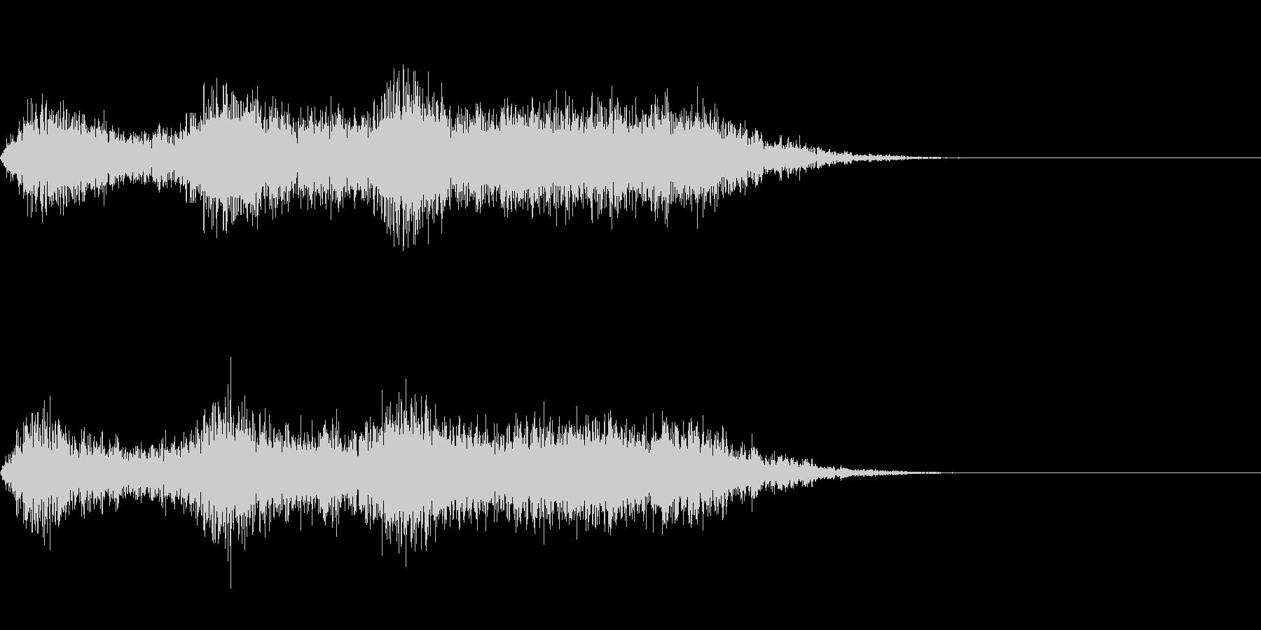 ホラーな音の未再生の波形