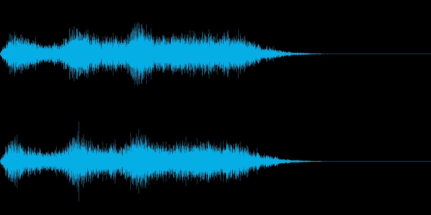 ホラーな音の再生済みの波形