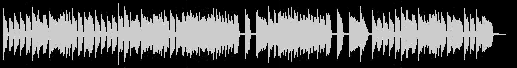 クラシック的なピアノの小品の未再生の波形