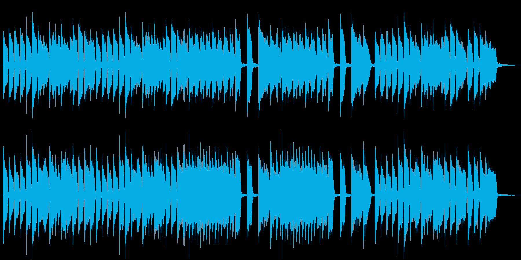 クラシック的なピアノの小品の再生済みの波形