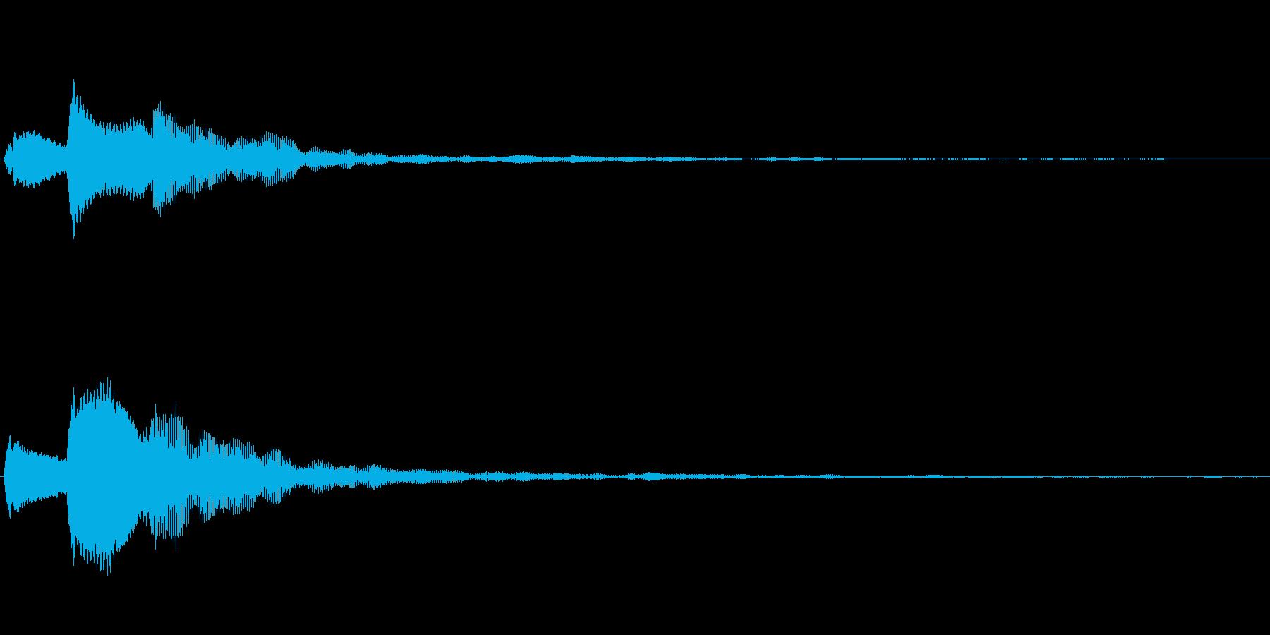 ぴこりーん キャンセル音の再生済みの波形