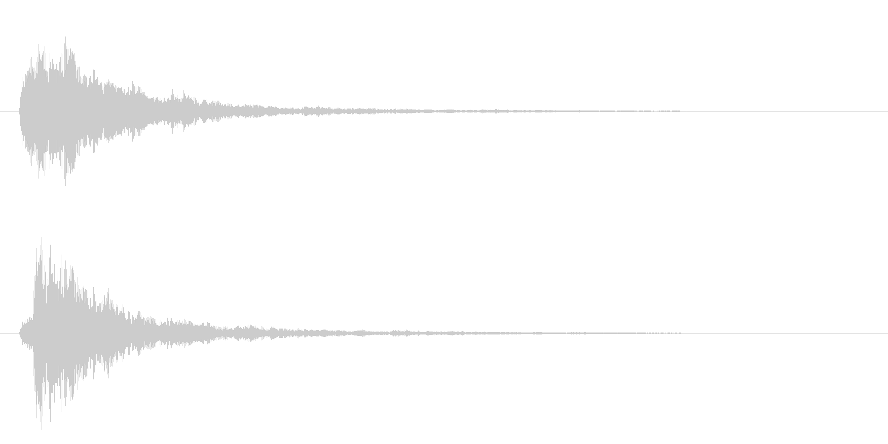 ロボ系の音の未再生の波形