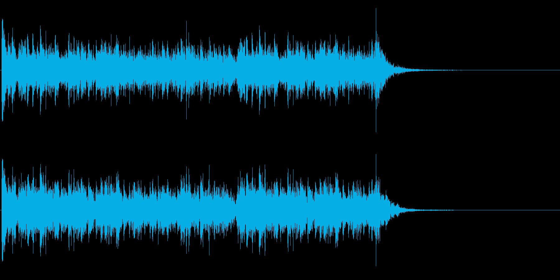 ドラムロール・スネアロール(長い)の再生済みの波形