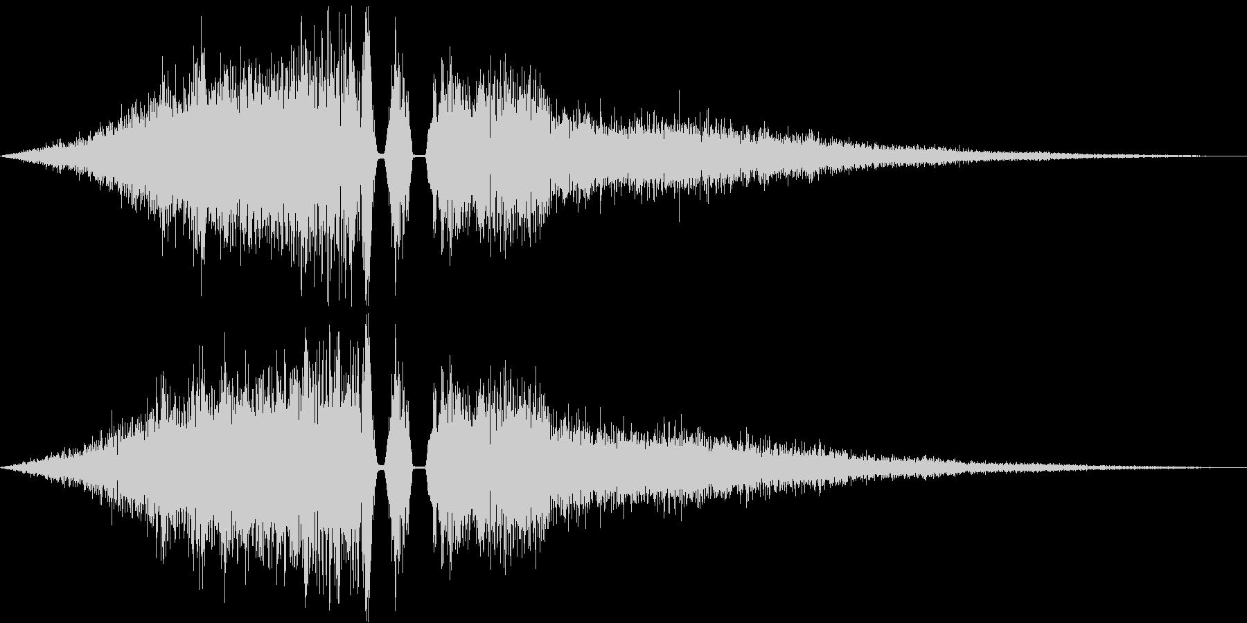 シーン切り替え/場面転換の未再生の波形