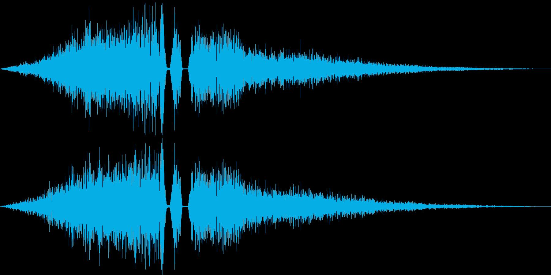 シーン切り替え/場面転換の再生済みの波形
