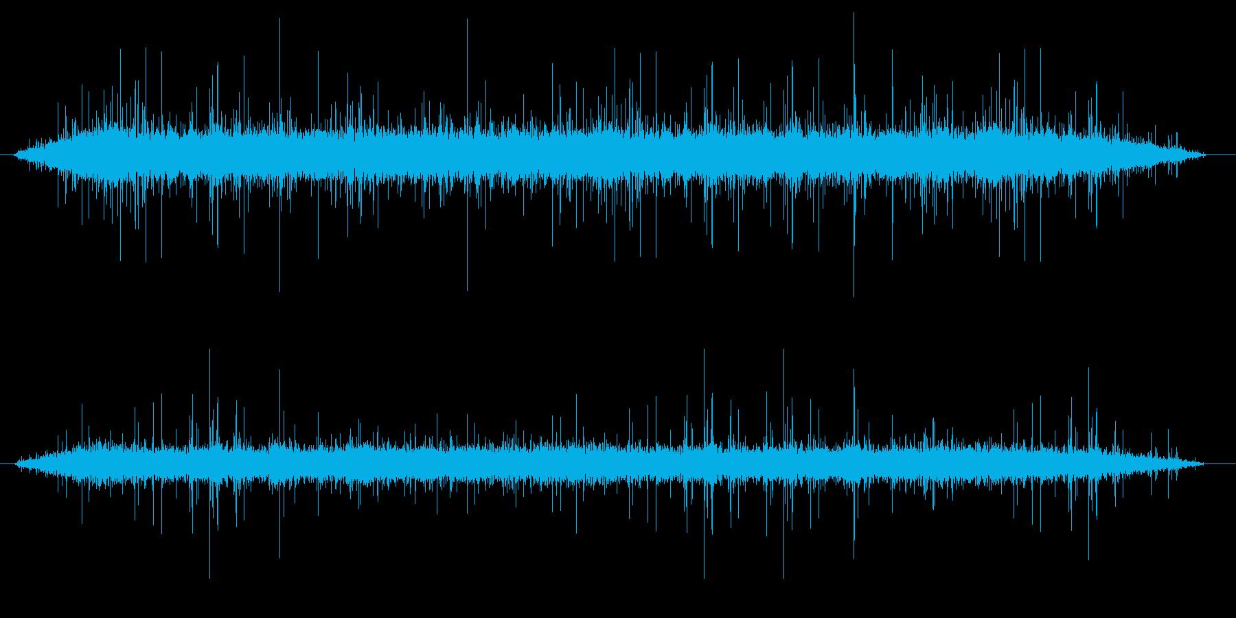 ジュゥー(焼く)の再生済みの波形
