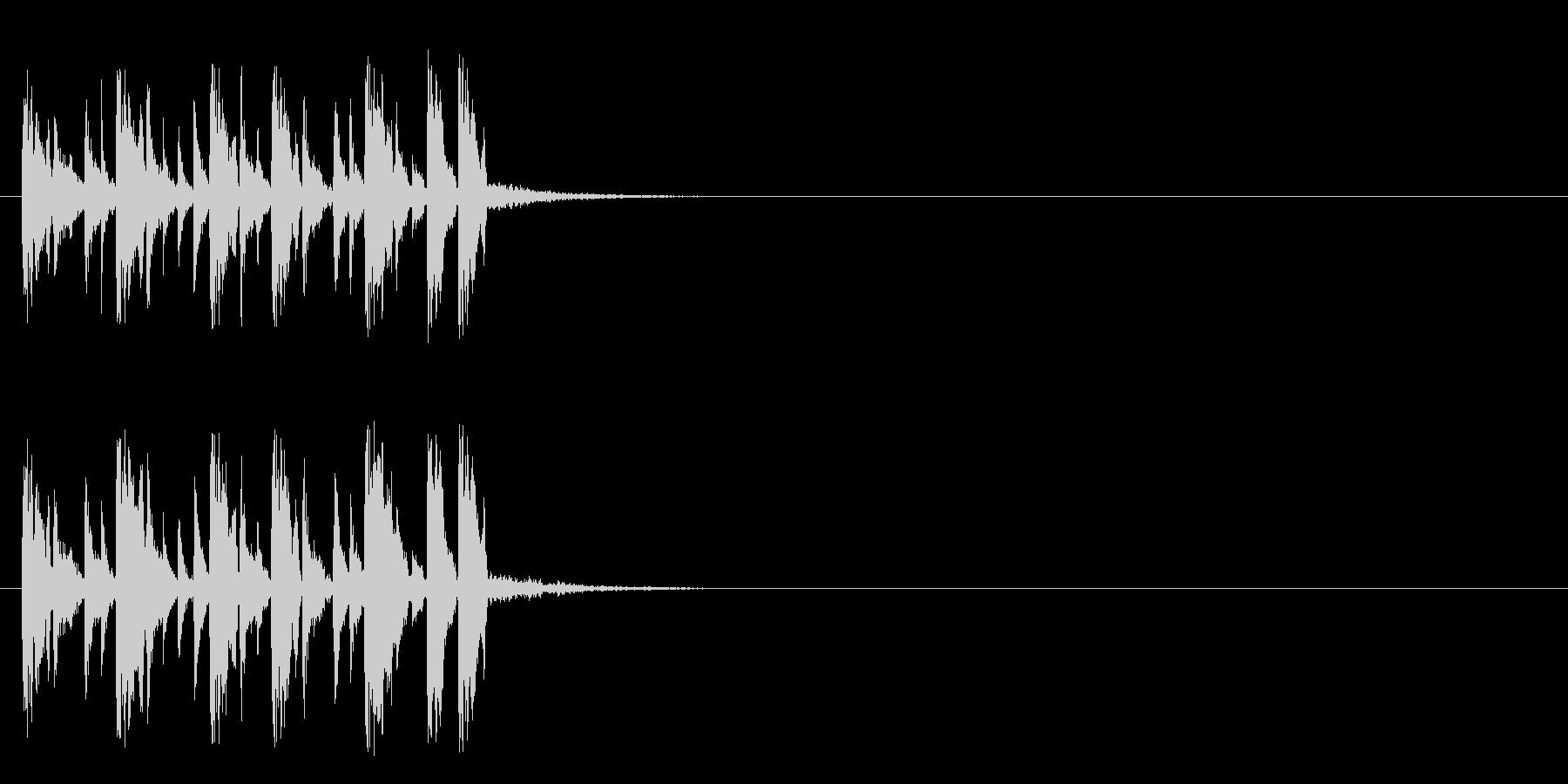 ジングル/テクノ(バラエティー風)の未再生の波形