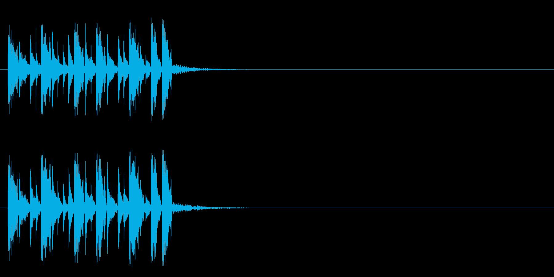 ジングル/テクノ(バラエティー風)の再生済みの波形