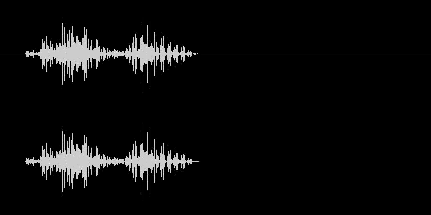 チェッ(軽く弾くような効果音)の未再生の波形