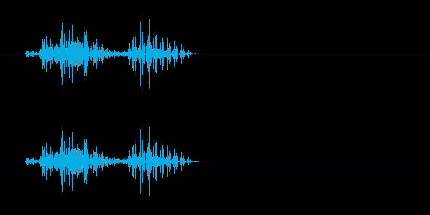 チェッ(軽く弾くような効果音)の再生済みの波形
