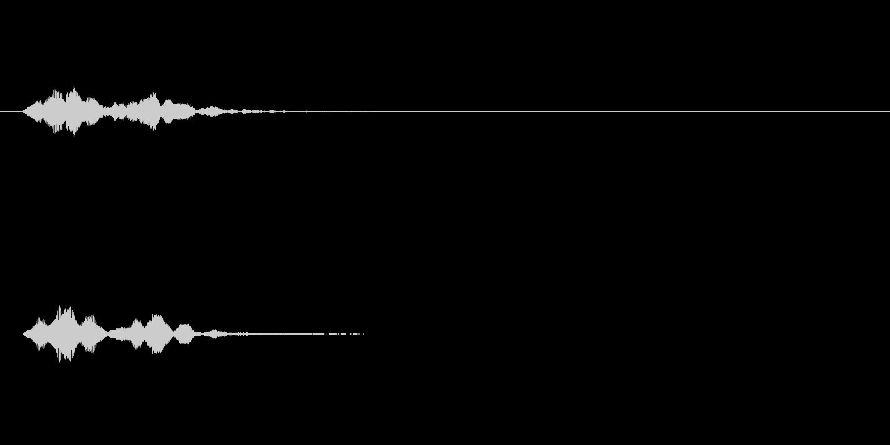 システム・ボタン音4の未再生の波形