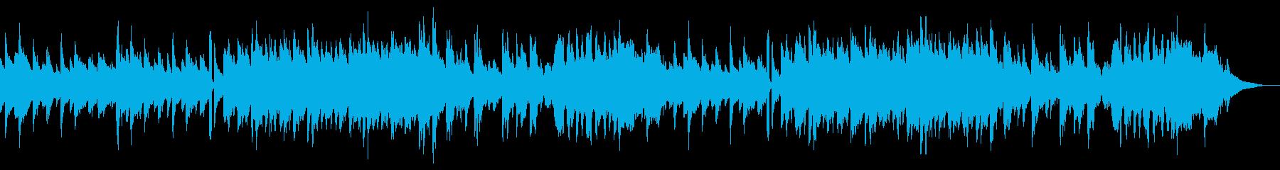 アコーディオンメインのゆったりとした曲の再生済みの波形