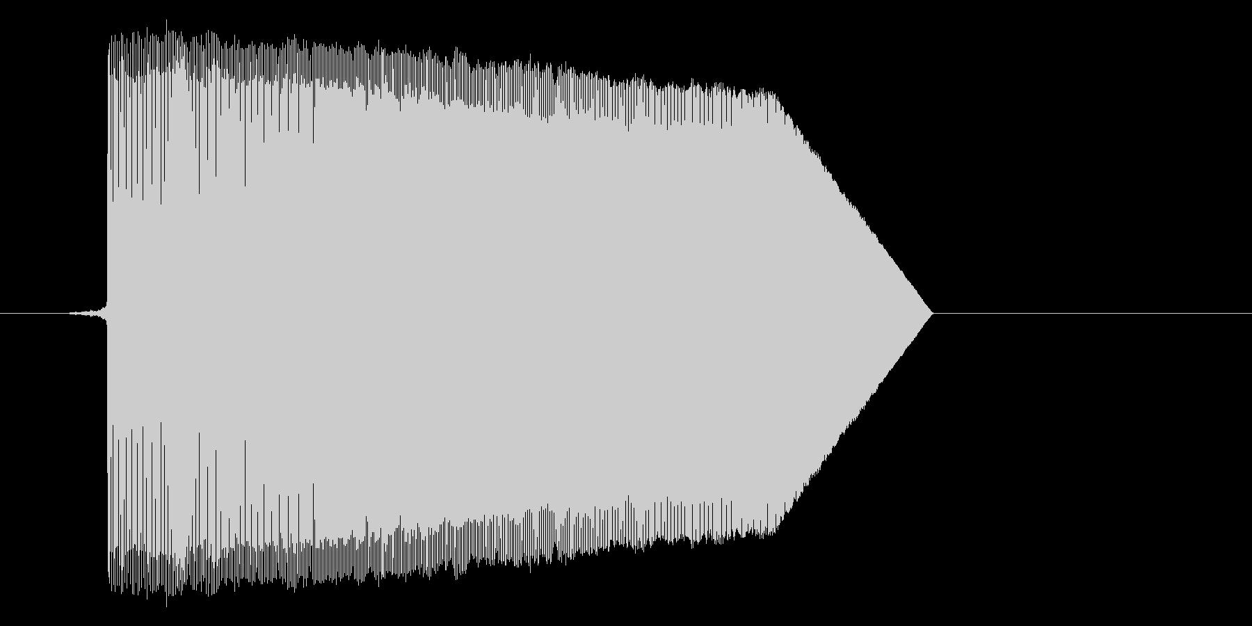 ゲーム(ファミコン風)ジャンプ音_025の未再生の波形