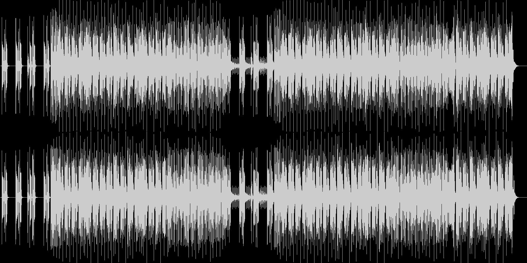 ミステリアス感のシンセサイザーサウンドの未再生の波形
