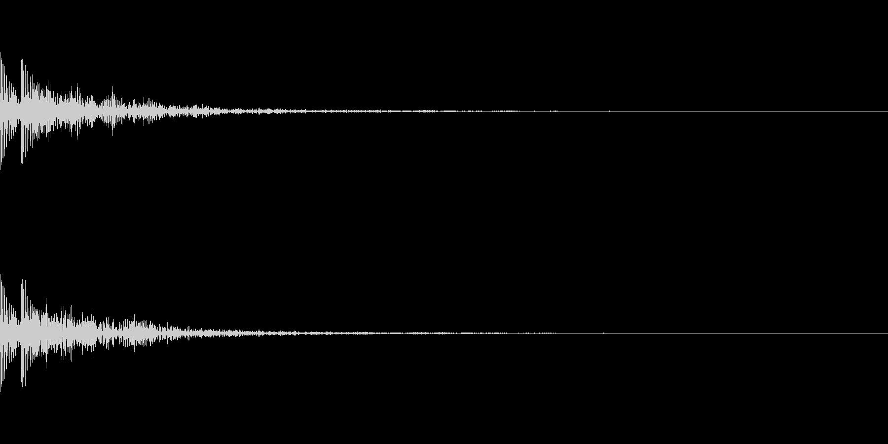 大太鼓と鈴の和風インパクト「ドドン!」の未再生の波形