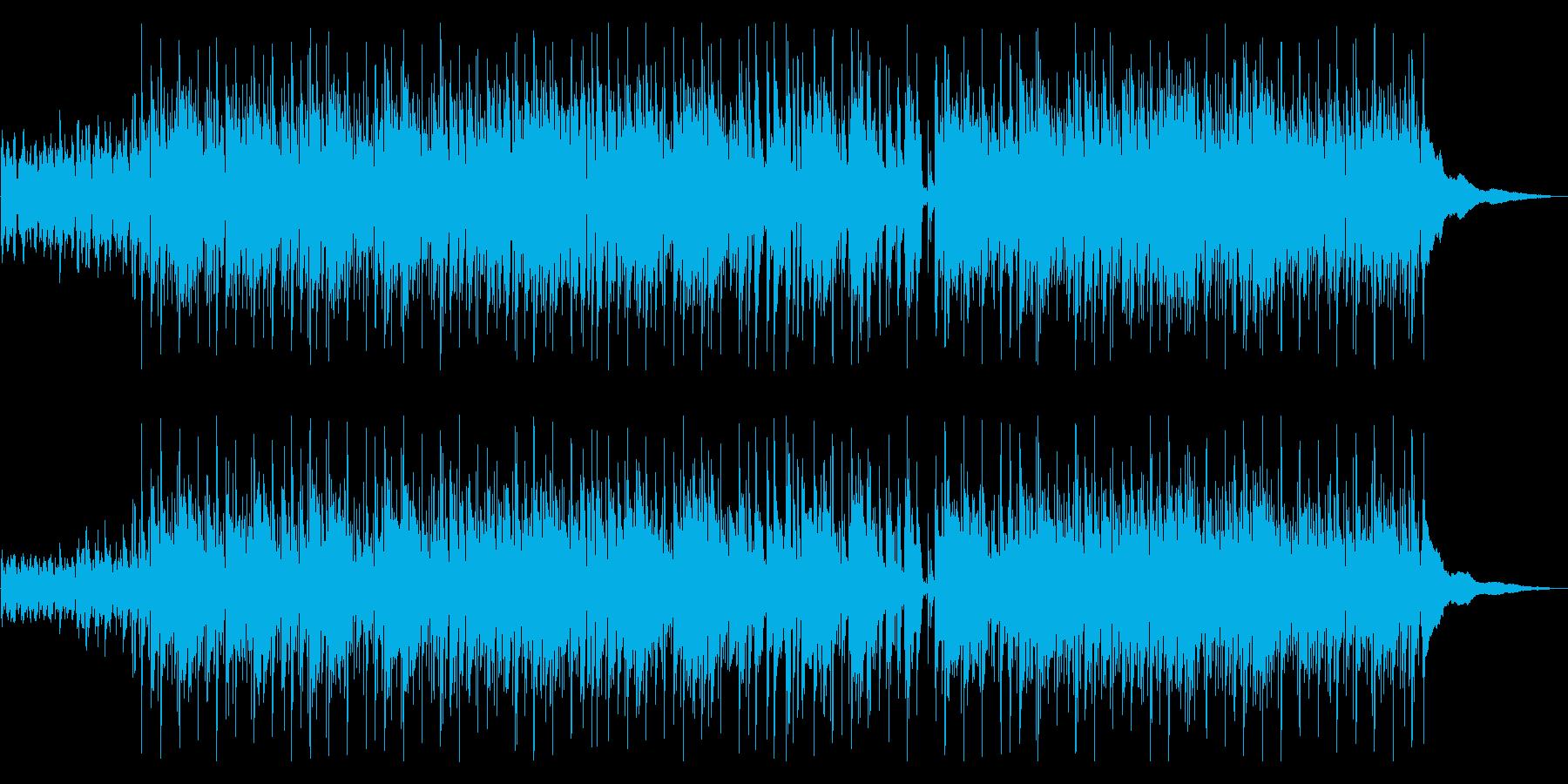軽快な癒しボサノヴァの再生済みの波形