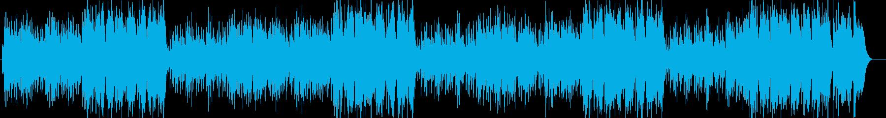 優しいシンセのヒーリングミュージックの再生済みの波形